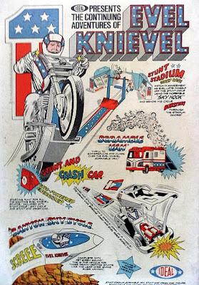 Evel Knievel, Marvel Comics ad