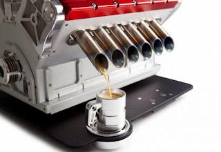 Máy pha cà phê V12 cho người mê xe đua