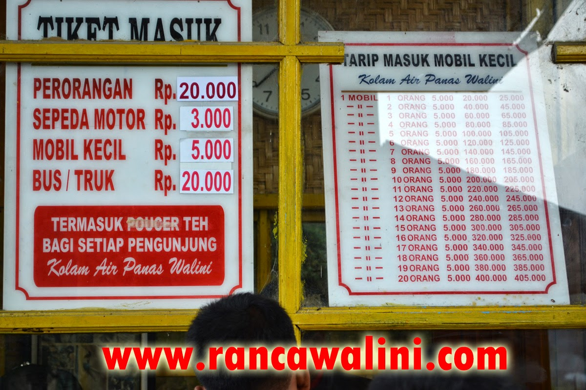 Tiket masuk walini rancawalini agustus 2014
