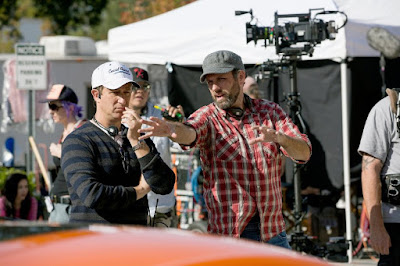 Sean Anders on the set of Daddy's Home