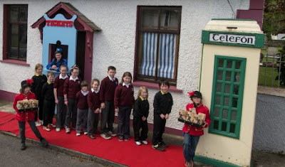 The world's smallest movie theater ...and old phone box in Malin (Photo: Donegal Democrat)
