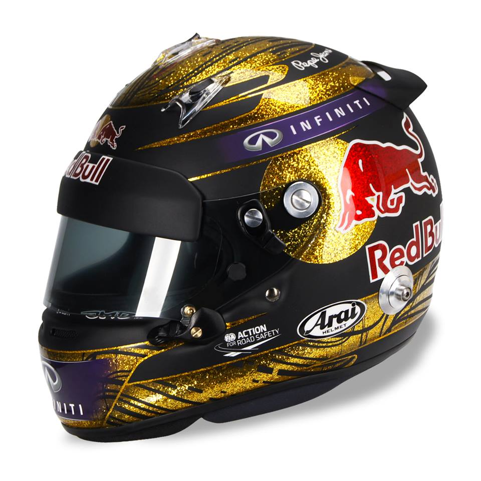Racing helmets garage arai gp 6 s vettel n rburgring 2013 for Helm design