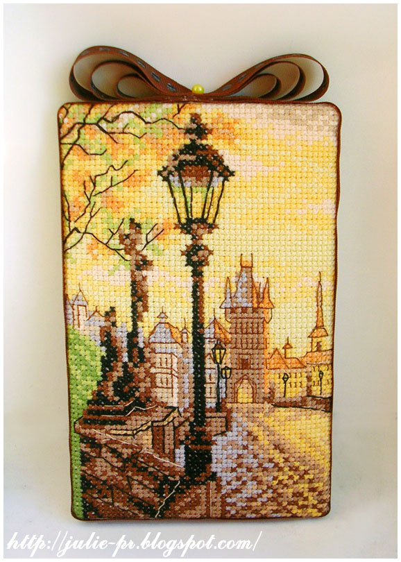 Карлов мост Прага искусница пинкип вышивка pinkeep cross stitch