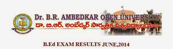 Ambedkar Open University B.Ed June 2014 Result
