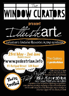 'IllustrARTe' at the Pedestrian Gallery, Leicester