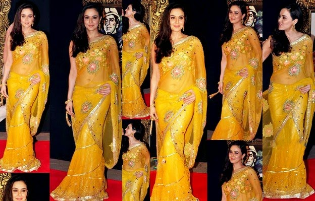 Pretty Zinta in Saree