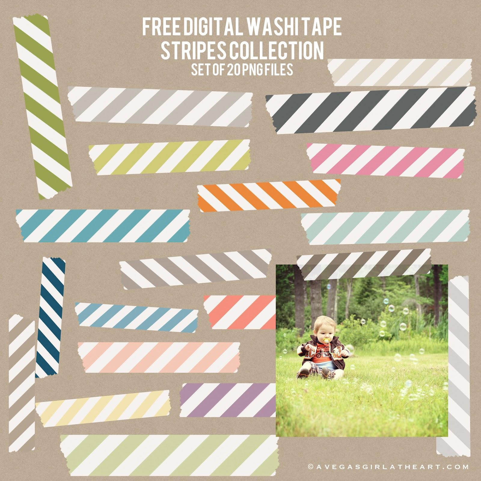 Washi Stripes Freebie Post Image