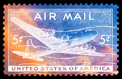 air mail stamp by nicolas raymond