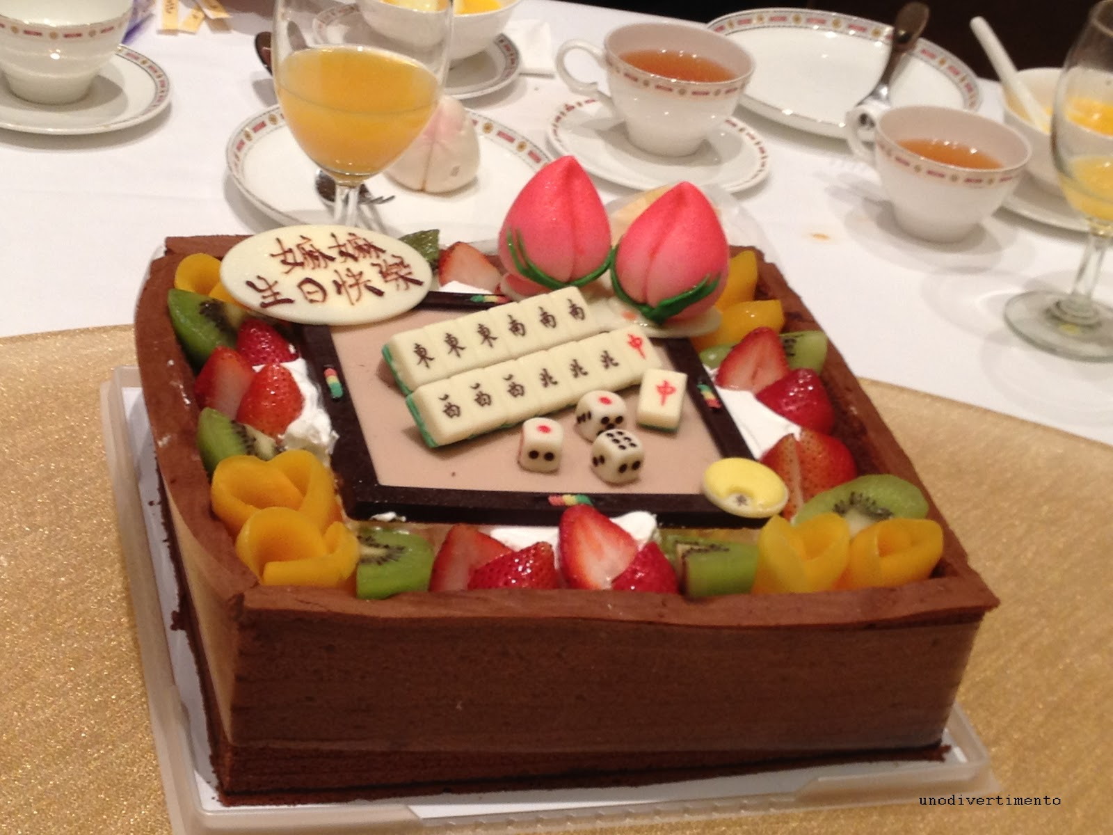Divertimento Mahjong Cake