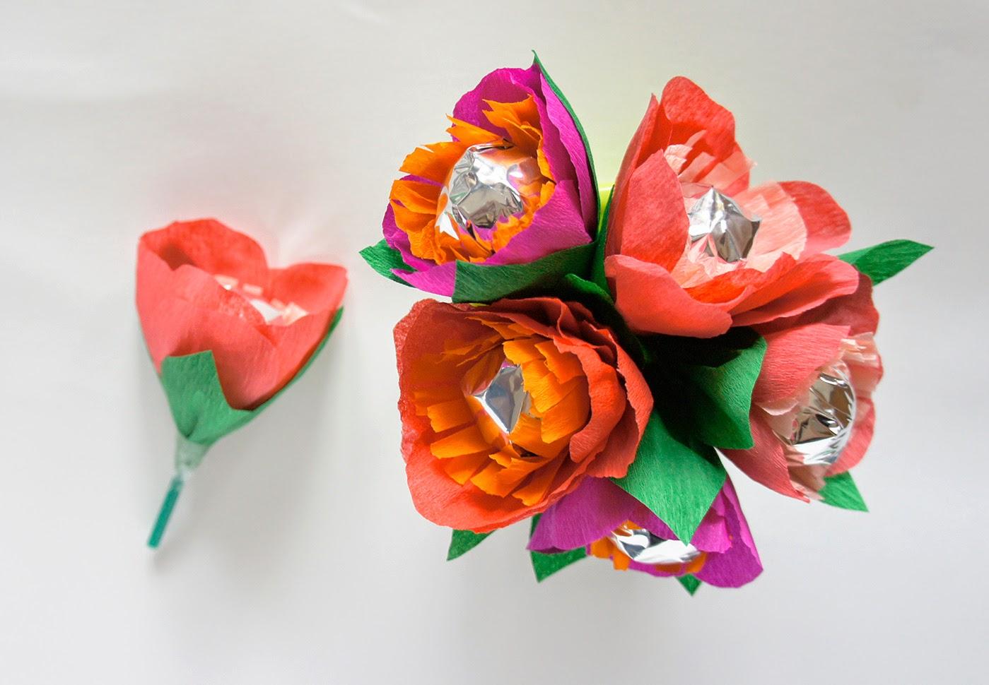 Как из чупа чупса сделать цветочек
