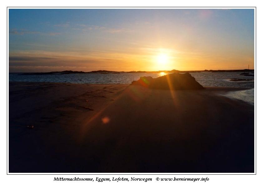 Mitternachtsonne in Eggum