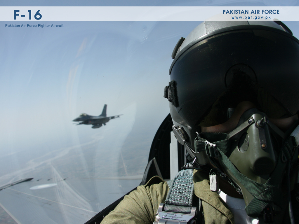 Pakistan Air Force F-16 Cockpit View Wallpaper