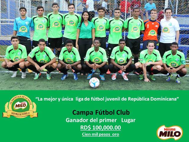CAMPA FÚTBOL CLUB GANA LA LIGA Y LA LIGUILLA MILO 2015