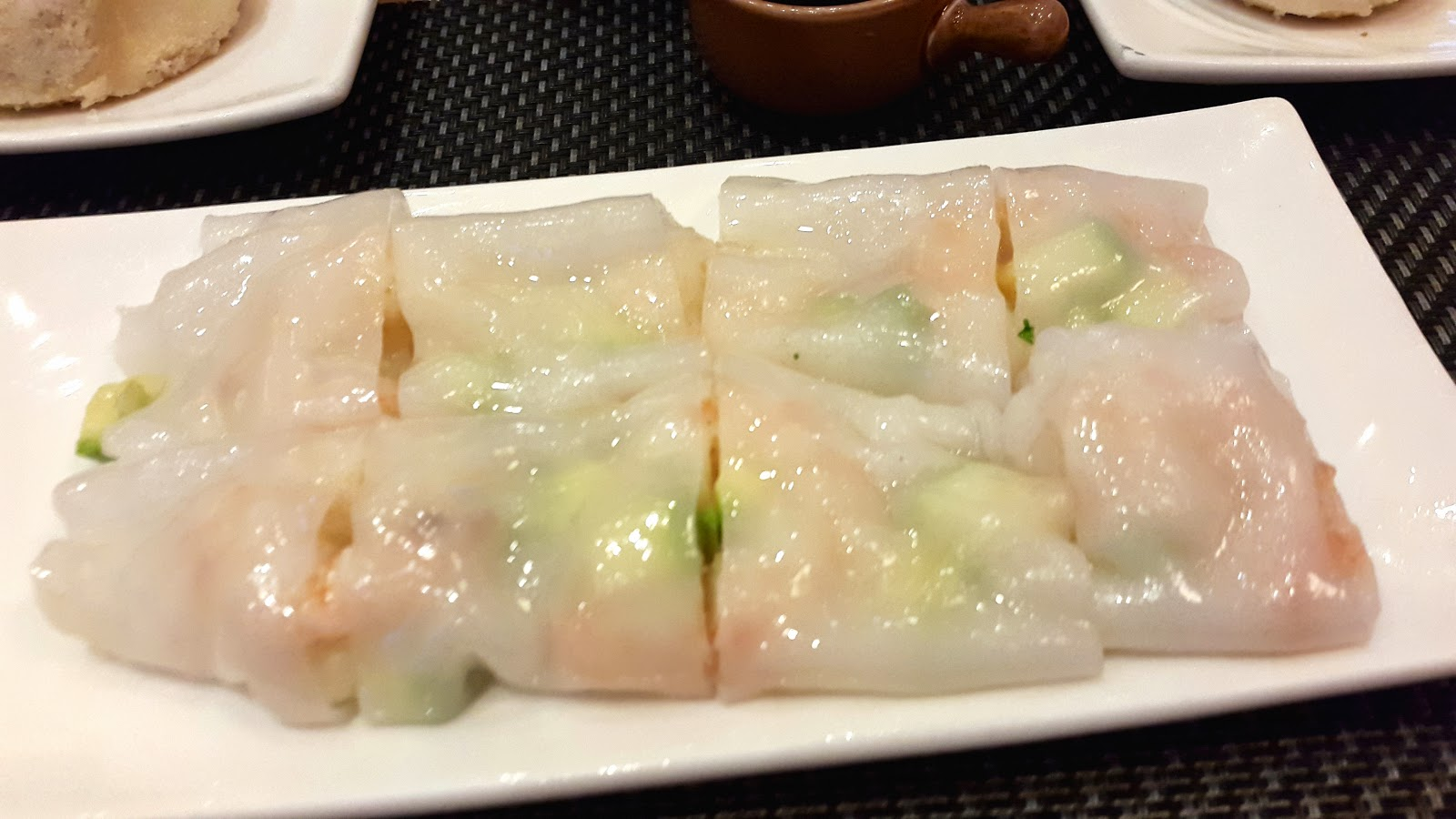 Steamed rice flour with prawns DIm Sum Bar