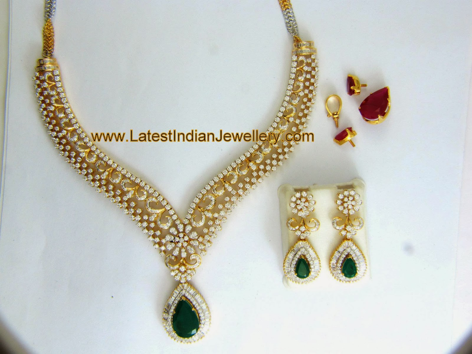 changeable stones diamond necklace