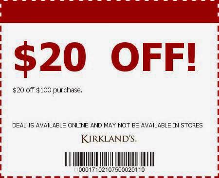 Kirkland's online coupon code 2018