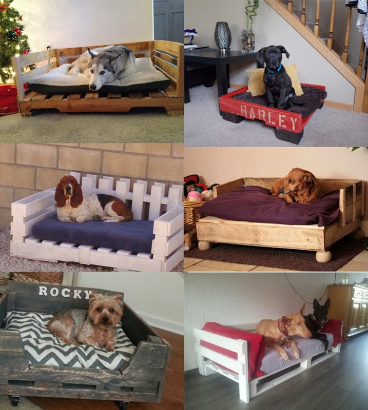 Wooden Dog Bed Made Out of Pallets