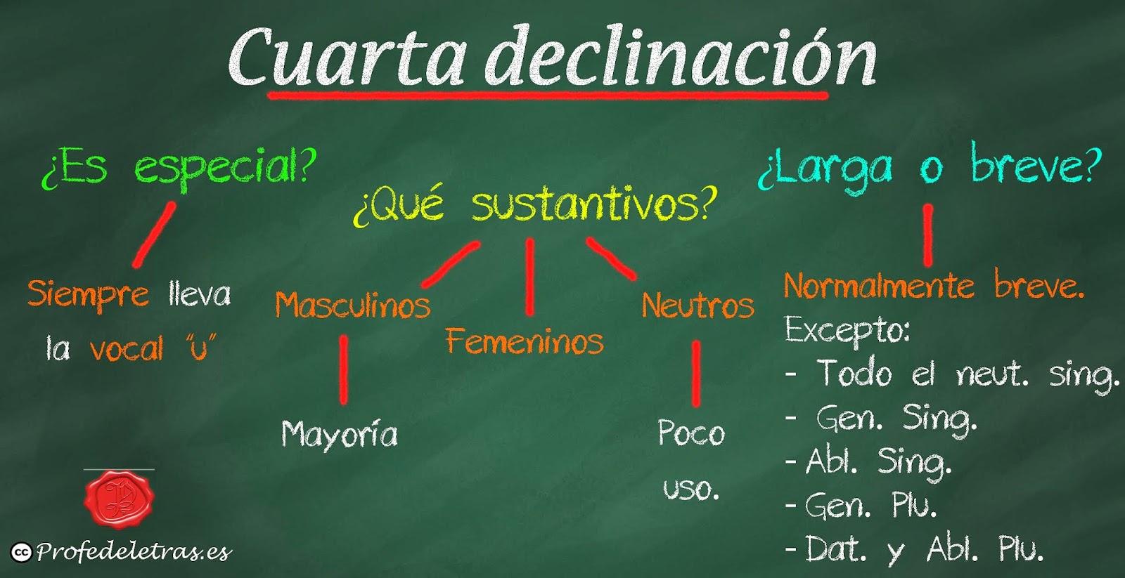 Cuarta declinación latina: Propiedades - Profe de Letras
