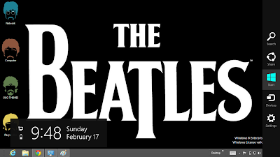 The Beatles Windows 8 Theme