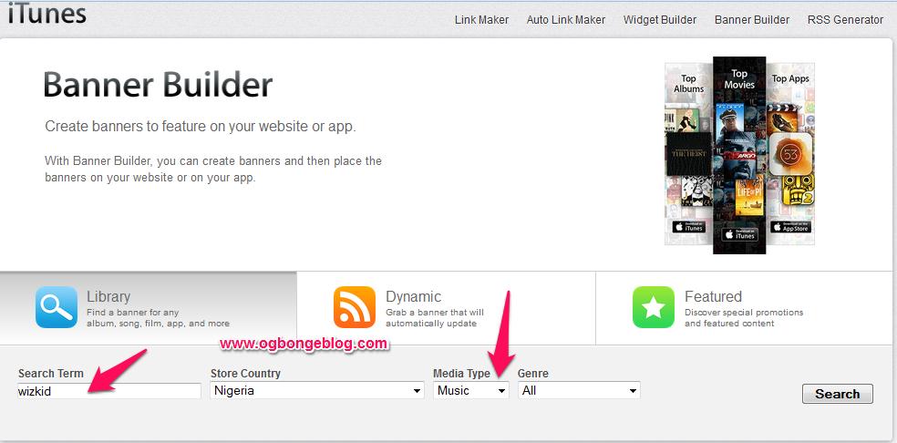 Apple Affiliate banner builder