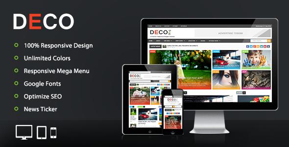 Deco Mag - Responsive Magazine Blogger Template