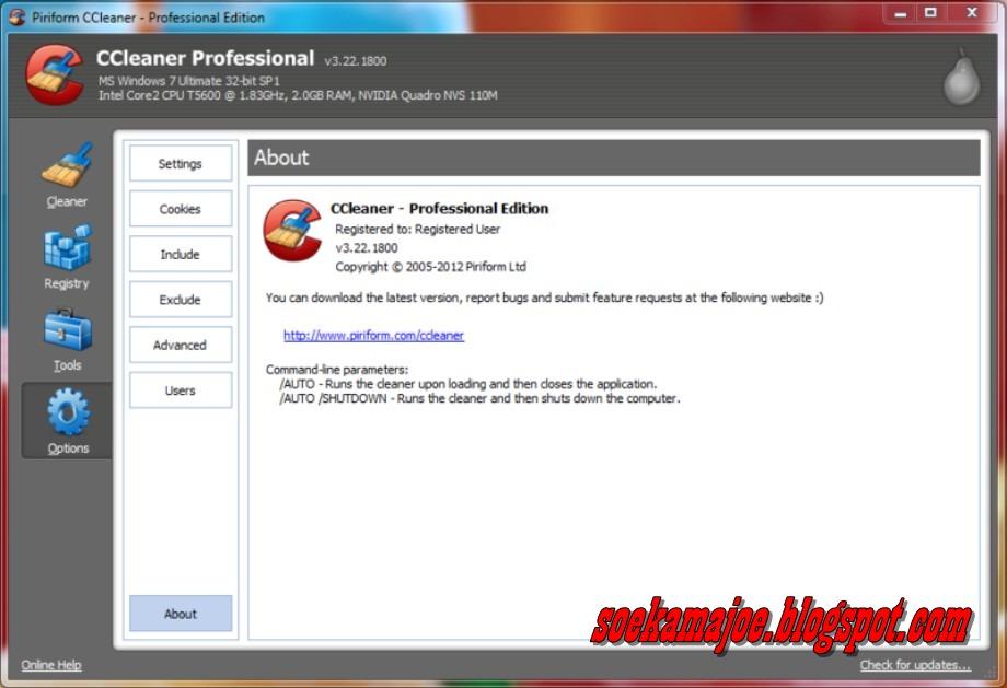 CCleaner professional edition v3.22.1800 full cracker | Blog Amburadul