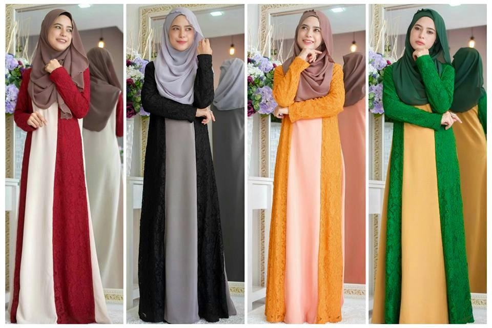 Tema Warna Apa Raya TAhun Ni? Jom Dapatkan Pelbagai Pakaian Muslimah Semuanya Cantik