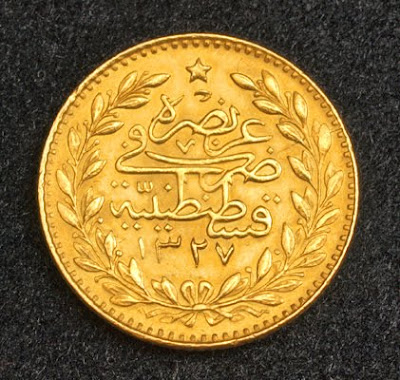 Turkey Gold 25 Kurush Coin
