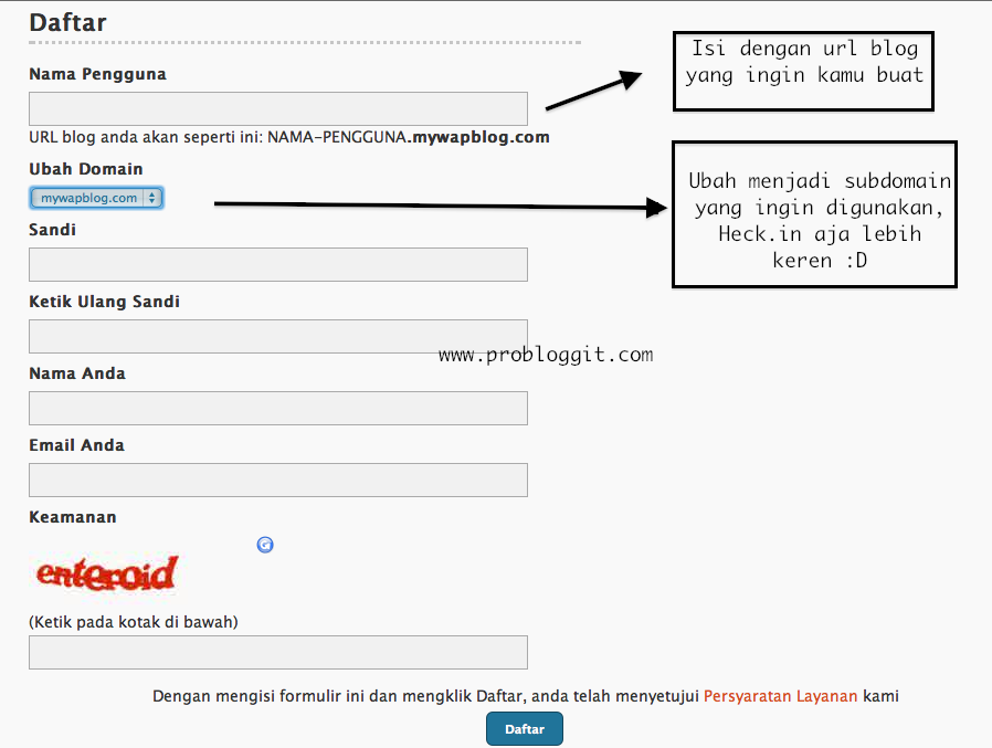 cara membuat blog heck.in