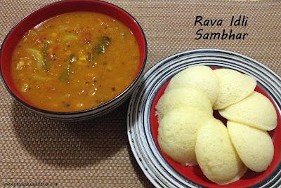 Rava rawa Idli Sambhar