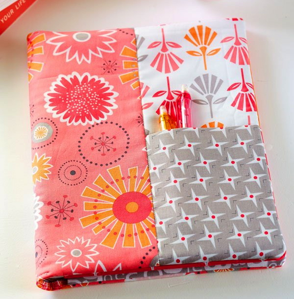 Notebook Cover Sewing Pattern : Bee in my bonnet notebook cover…quilts spring