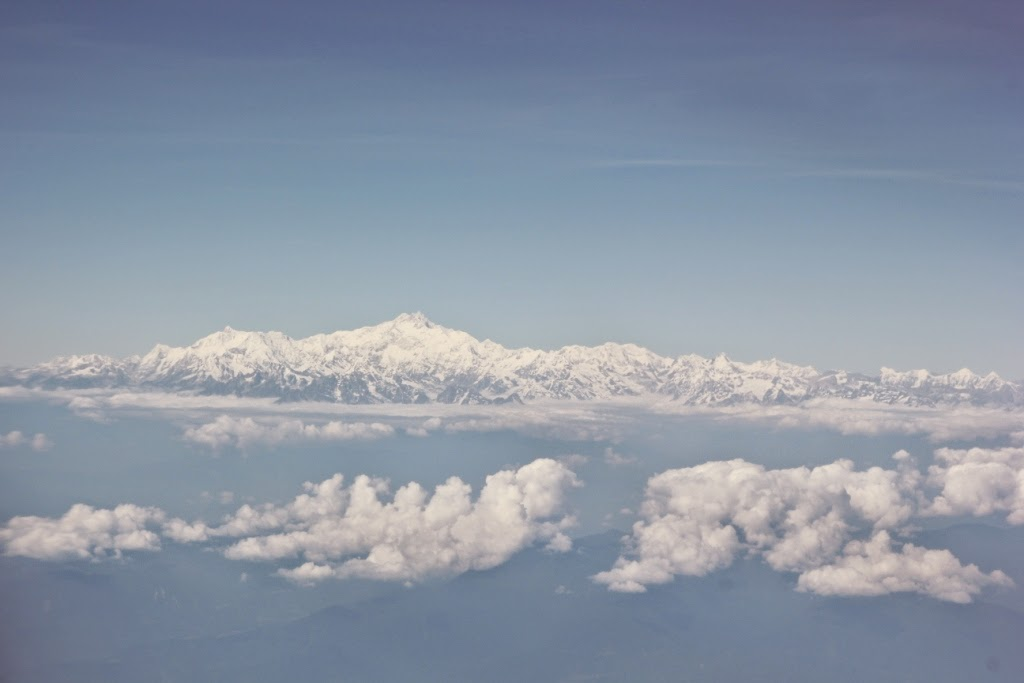 Himalayas from flight