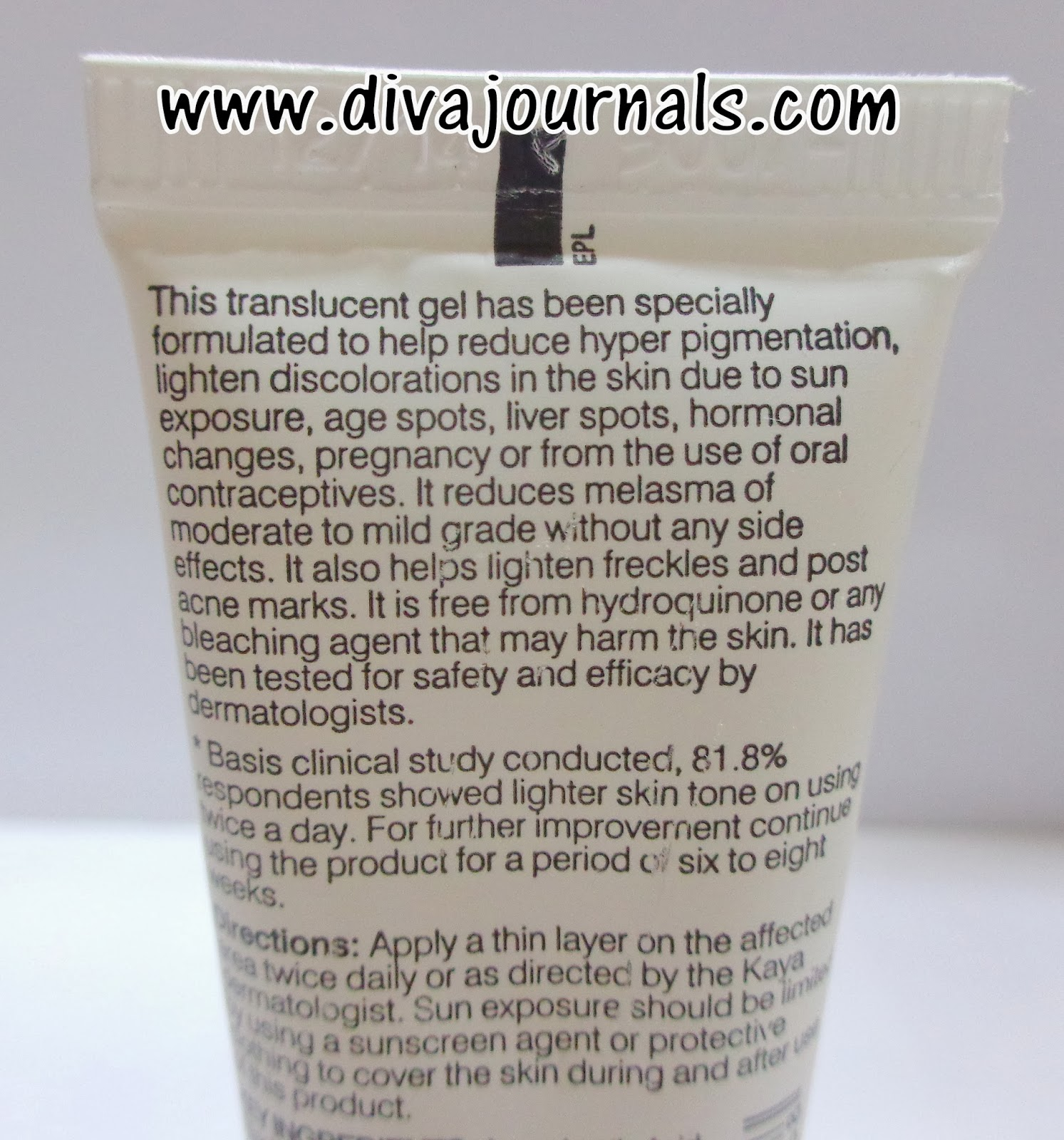 Kaya Pigmentation Reducer Gel Review
