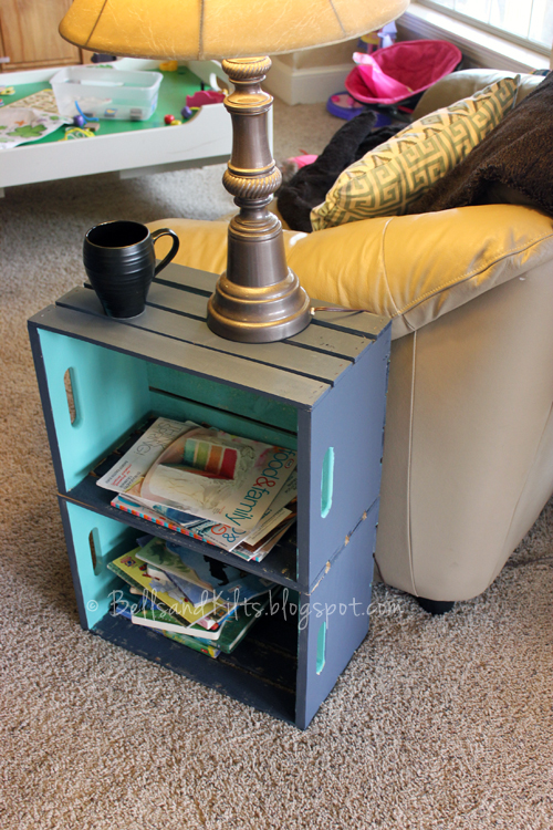 Texas tales diy simple wood crate side table