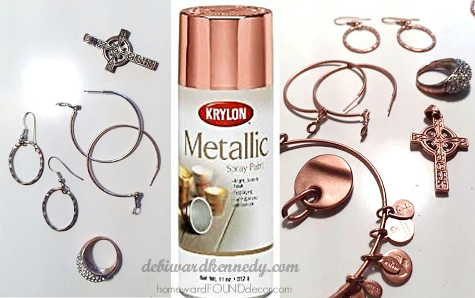 Rose gold spray paint for jewelry