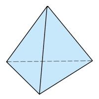 Abb. 1: Tetraeder (4 Seiten) aus Dreiecken