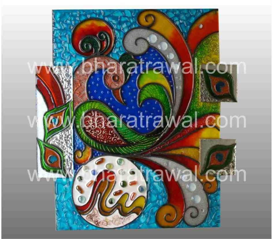 Mural art by muralguru bharat rawal for Mural glass painting