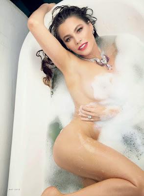 Sofia Vergara sexy cleavage in Vanity Fair magazine May 2015 photo