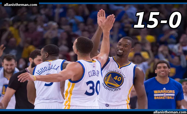 Golden State Warriors tie NBA record with 15-0 start (VIDEO)