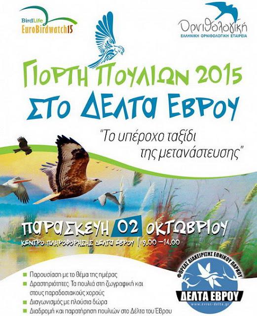 Πανευρωπαϊκή Γιορτή των Πουλιών στο Δέλτα Έβρου