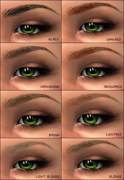 Angry eyebrows shape