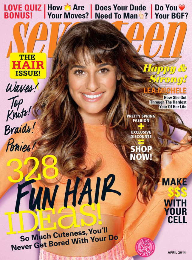 Lea Michele en portada de Seventeen Magazine abril 2014