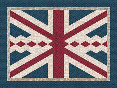 Downton Abbey Union Jack Quilt Design