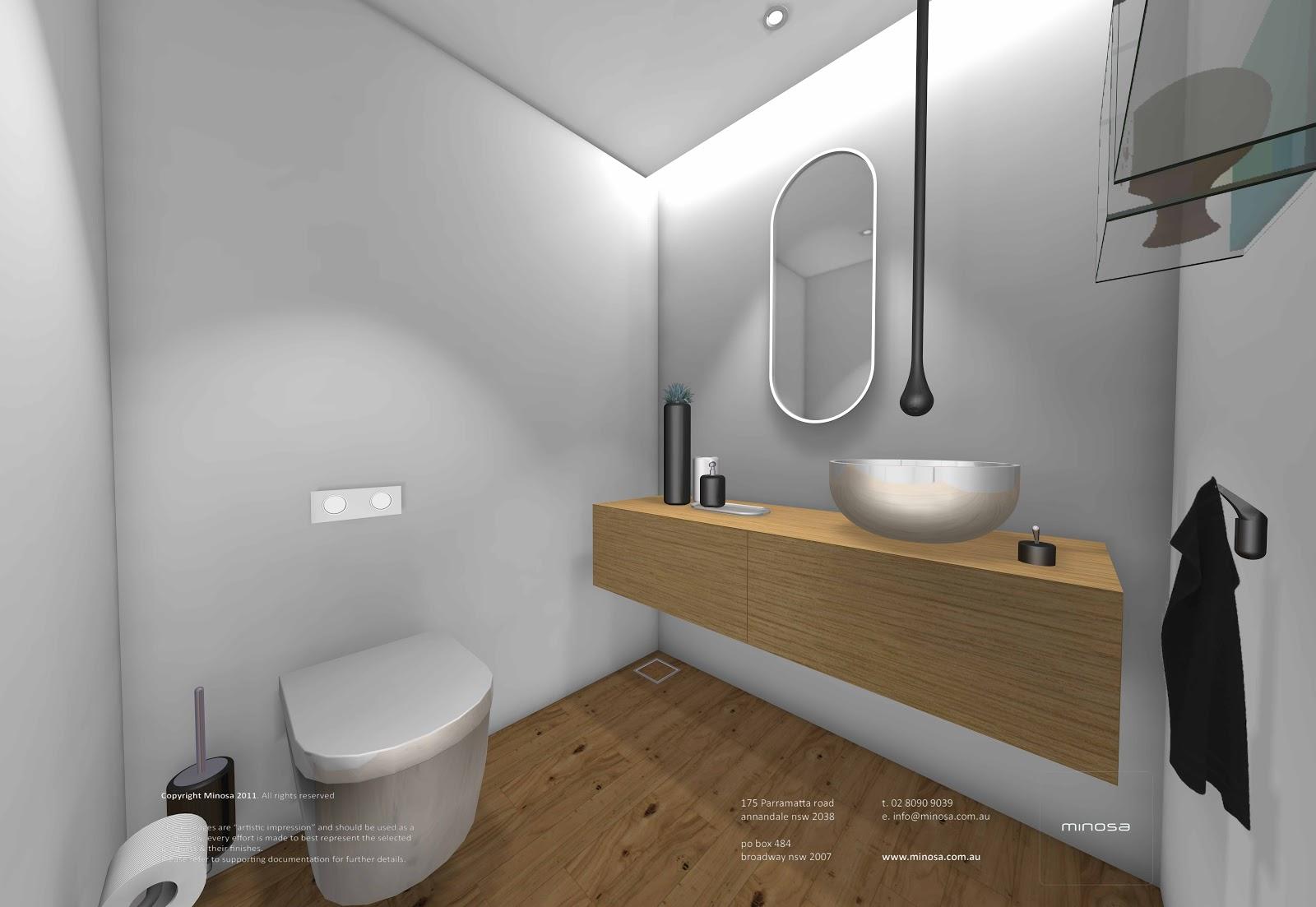 Minosa sydney city apartment modern bathroom design for Bathroom designs sydney