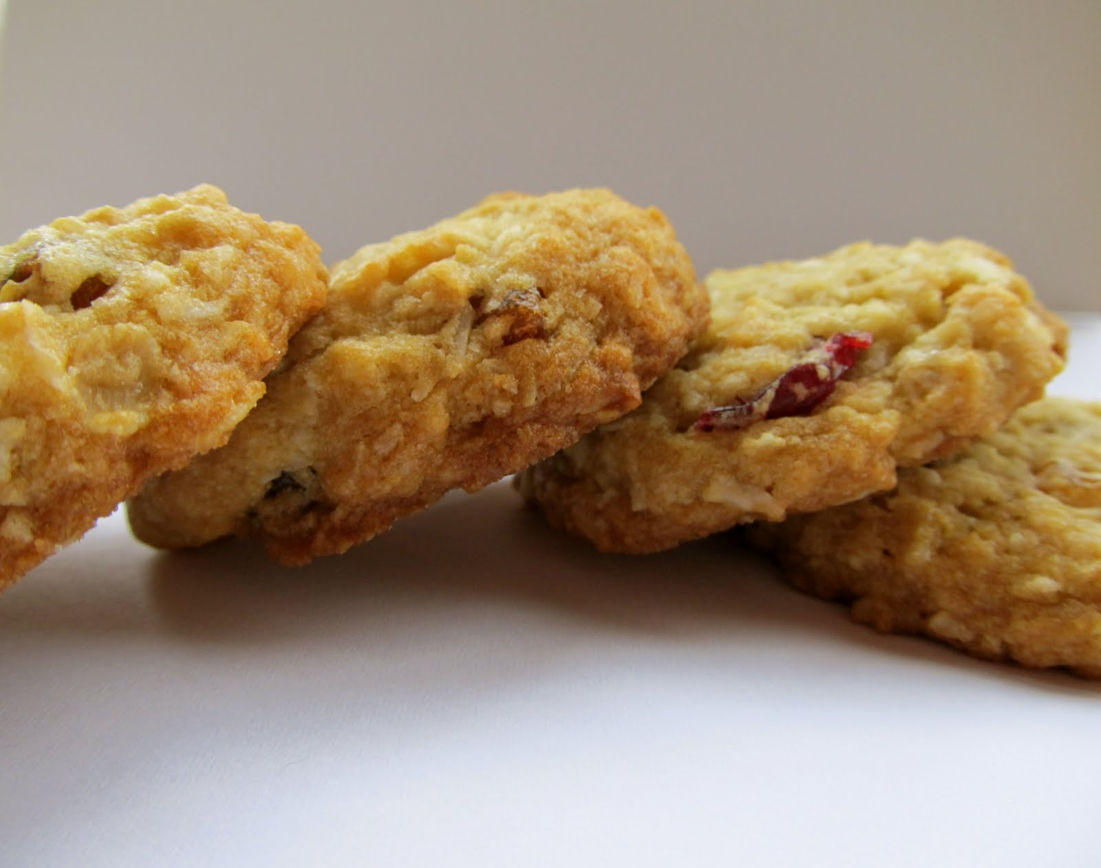 Mary Quite Contrary Bakes: Vegan Cranberry Oatmeal Coconut Cookies