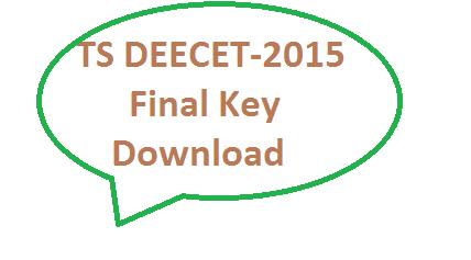 TS DEECET-2015 Final key for A B C D Download