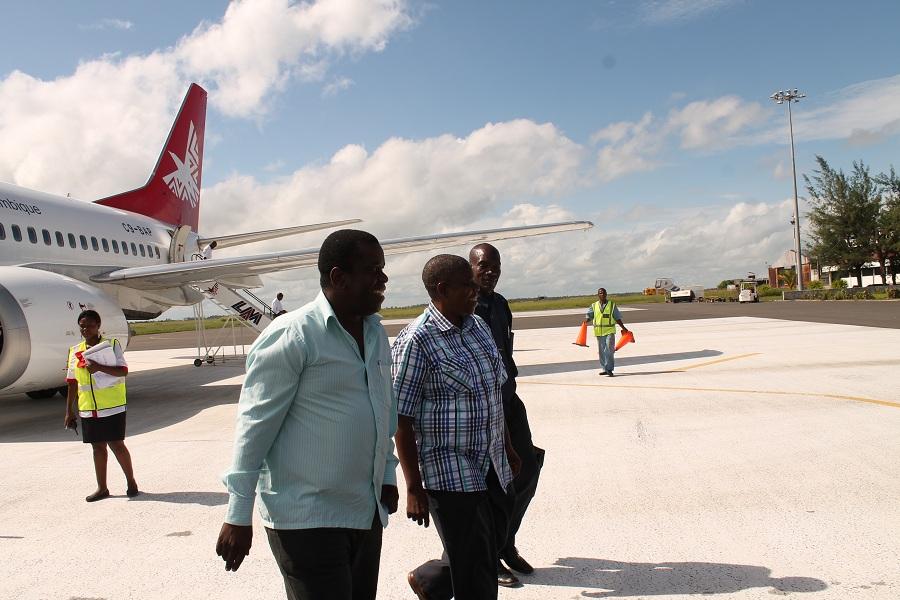 Aeroporto De Quelimane : Luis boavida recepção do presidente daviz simango a no