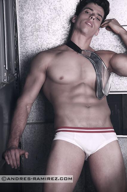 Abraham Arasa in Barcode underwear - Andres Ramirez