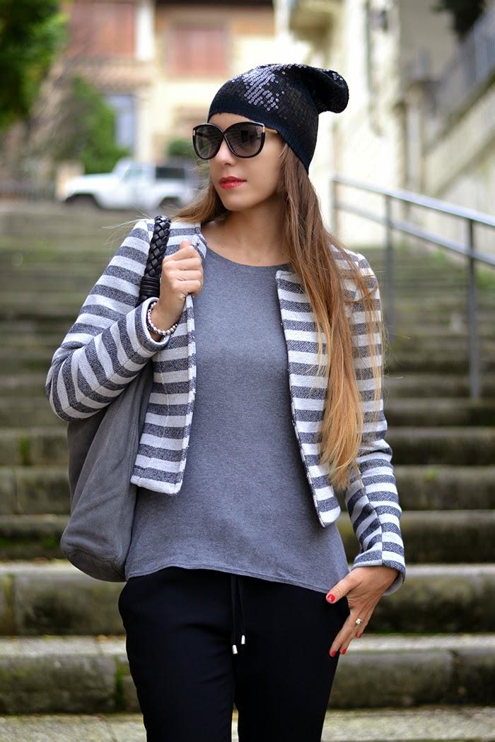 borsa camoscio grigio
