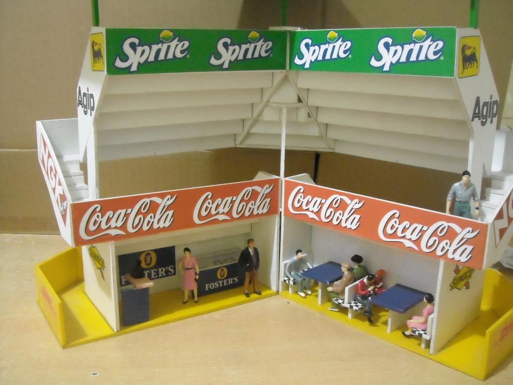Maquetas y modelismo en escala 1 32 tribuna para curva for Como hacer gradas
